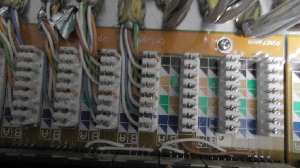 Anklemmen der Ca7 7 Kabel